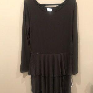 Lularoe Georgia ruffle dress, black, BNWT